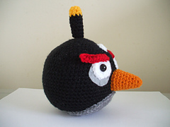 Black Angry Bird Amigurumi Pattern : Ravelry: Angry Birds - Black Bird pattern by Adorable ...