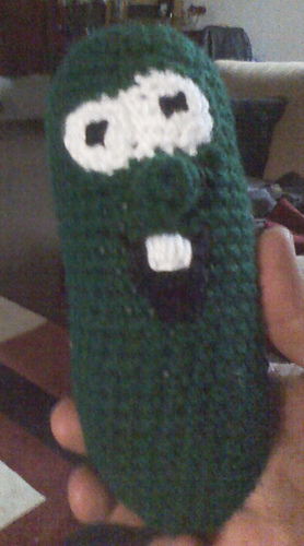 Ravelry larry the cucumber from veggietales pattern by