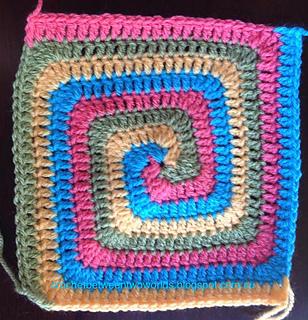 Free Crochet Pattern Spiral Granny Square : Ravelry: Solid Spiral Granny Square pattern by Patty Crochete