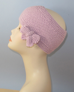 Knitted Headband Pattern On Circular Needles : Ravelry: Tie Up Bow Moss (Seed) Stitch Headband Circular ...