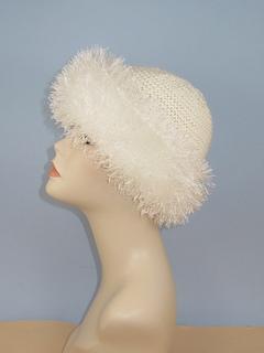 Ravelry Faux Fur Trim Garter Stitch Beanie Hat Pattern By