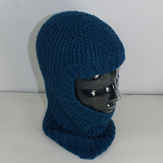Ravelry: 4 Ply Textured Unisex Balaclava Circular pattern by Christine Grant