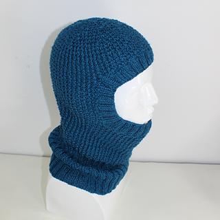 Balaclava Knitting Pattern 2 Needles : Ravelry: 4 Ply Textured Unisex Balaclava Circular pattern by Christine Grant