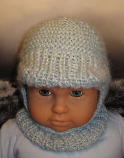 Chunky Balaclava Knitting Pattern : Ravelry: Baby Peak Garter Stitch Balaclava pattern by Christine Grant
