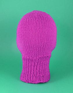 Balaclava Knitting Pattern 2 Needles : Ravelry: Chunky Ski Mask Balaclava Circular pattern by Christine Grant