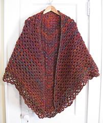 Triangular Prayer Shawl Knit Pattern : Ravelry: Crochet Triangular Shawl pattern by Jan Corbally