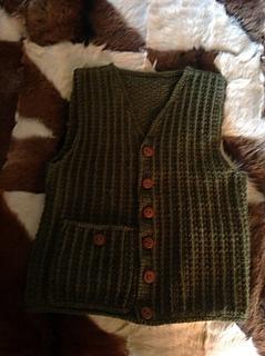 Ravelry Fisherman Crochet Aran Vest Pattern By Lion Brand