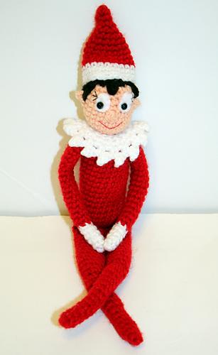 Ravelry: Holiday Shelf Elf Crochet Doll pattern by Mary Smith