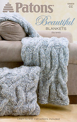 Ravelry: Cables Blanket and Pillow pattern by Patons