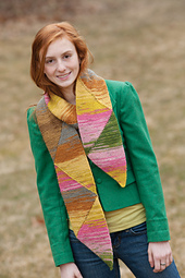 Short Row Triangle Scarf PDF