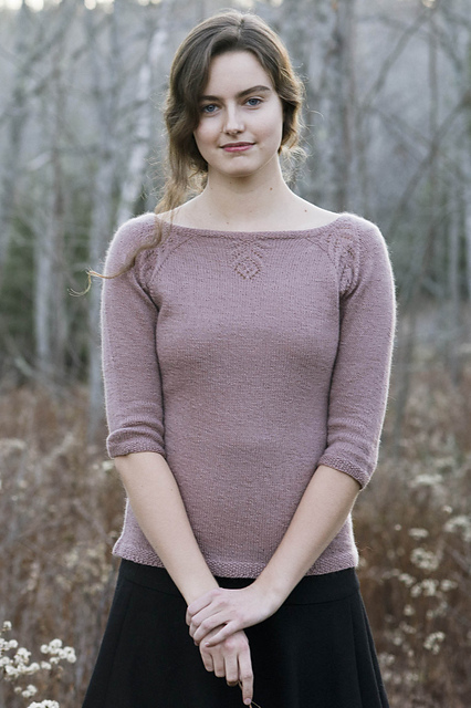 Patron de chandail tricoté Floret par Kristen TenDyke