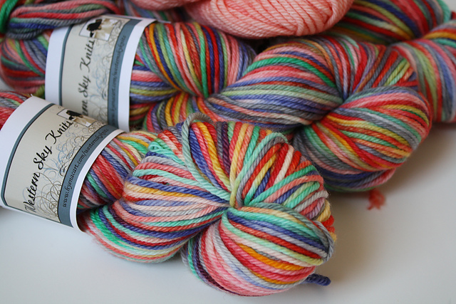 "WSK ""Sweet Pea"" on Willow Worsted - 3.5 skeins"
