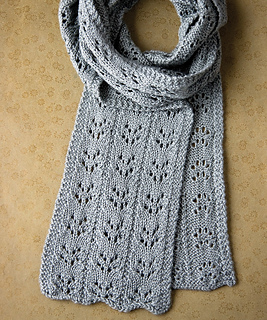 Eyelet Lace Scarf Knitting Pattern : Ravelry: Branching Eyelet Scarf pattern by Megan Goodacre