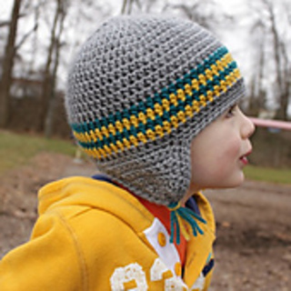 Free Crochet Pattern For Hat Band : Ravelry: Striped Band Earflap Hat Pattern pattern by Micah ...