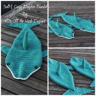 Free dolphin knitting pattern ipaafo for ravelry soft cozy dolphin blanket pattern by mjs off the hook des free dolphin knitting dt1010fo