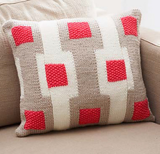 Gridwork Knitting Pattern : Ravelry: Graphic Gridwork Pillow pattern by Bernat Design Studio