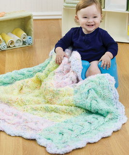 Free Knitting Patterns For Baby Blanket Borders : Ravelry: Cable Border Blanket pattern by Michele Wilcox