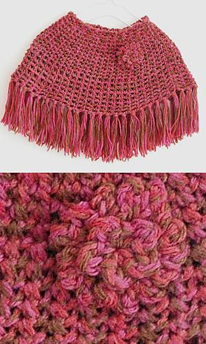 Pierrot Yarn Free Crochet Patterns : Ravelry: 28-29-302P Mini Poncho pattern by Pierrot (Gosyo ...