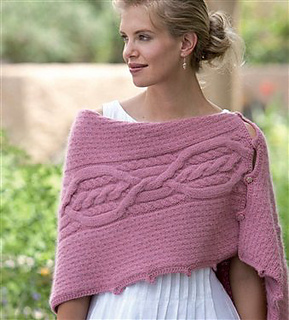 Knitting Daily Tv Patterns : Ravelry: Five-Way Cable Shrug pattern by Lily M. Chin