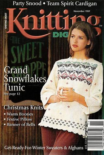 Ravelry: Knitting Digest Magazine, Vol. 19 No. 6, November 1997 - patterns