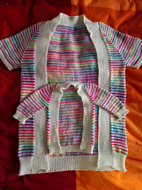 MissBlaine's Mama & Newborn Vertebrae sweaters in Alegria