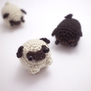 Free Crochet Pattern For Pug Dog : Ravelry: Little amigurumi pug dog pattern by mohu