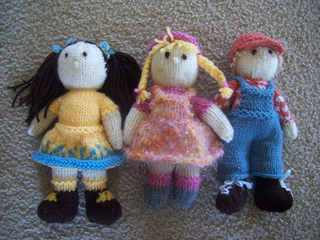 Ravelry: Tiny Knitted Dolls for Kids pattern by Janet Clark