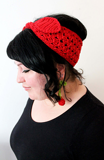 Ravelry Cherry Headband And Earrings Pattern By Anna