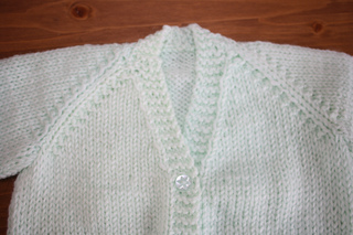 Free Knitting Pattern For Raglan Sleeve Baby Cardigan : Ravelry: Unisex V Necked baby Cardigan pattern by Morven Swan