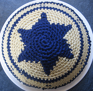 Free Crochet Yamaka Pattern : Ravelry: Kippah Yarmulke Tapestry Closed Star of David ...