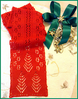 Ravelry: Christmas Trees and Snowflakes Knit Lace Scarf pattern by Michael Ha...