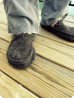 Knitted Moccasin Slippers Pattern : Ravelry: Moccasin Slippers, Knit Crochet Slippers pattern by Natalya1905