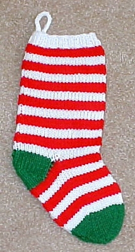 Ravelry: 2 Needle Holiday Stocking pattern by Frugal ...