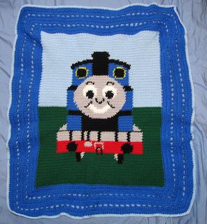 Knitting Pattern Train Blanket : Ravelry: nleon307s Thomas the Train Blanket