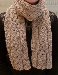 Free Crochet Pattern For Cable Scarf : Ravelry: Milan Cable Scarf pattern by Noelle Stiles