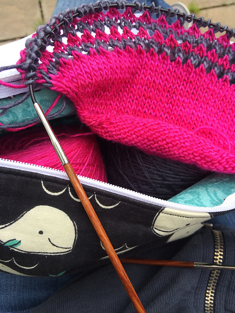 Mean Girls Shawl in Progress