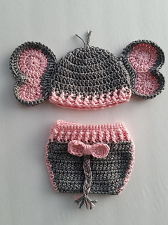 Free Crochet Pattern For Elephant Hat : Ravelry: Elephant Hat and Diaper Cover for Boy or Girl ...