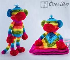 Ravelry: Rainbow Sock Monkey Lovey and Amigurumi Set ...