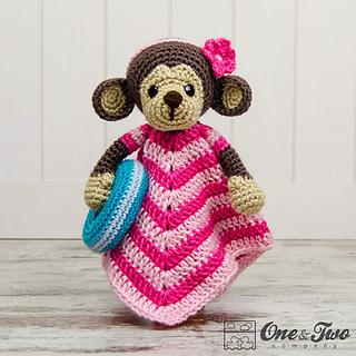 Crochet Baby Blanket Monkey Pattern : Ravelry: Lily the Baby Monkey Lovey pattern by Carolina Guzman