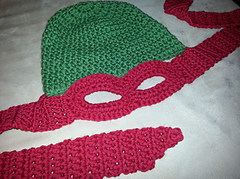 Free Crochet Pattern For Ninja Turtle Hat With Mask : Ravelry: Ninja Turtle Hat/Mask pattern by Jaime George