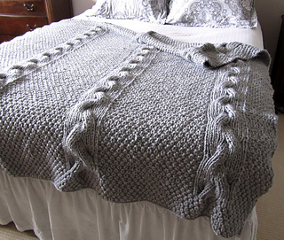 Ravelry: Reversible Cable Knit Blanket pattern by chez pascale