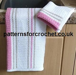 Crochet Patterns Free Hand Towels : Ravelry: PFC60 Tea Towel & Dishcloth Free Crochet Pattern ...
