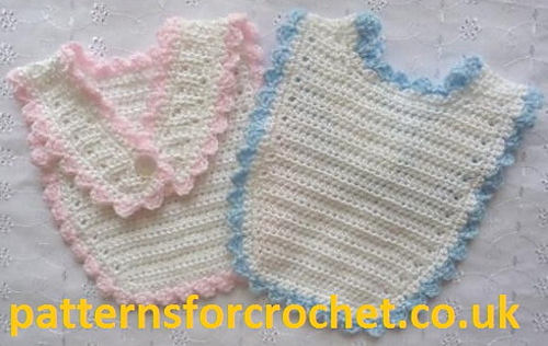 Crochet Patterns Baby Bibs : Ravelry: PFC02 Baby Bibs pattern by Patternsfor Designs