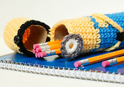 Ravelry: Minion Pencil Case pattern by Kara Gunza