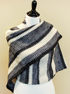 Crochet Pattern For Small Shawl : Ravelry: Ombre Shawl pattern by Kara Gunza