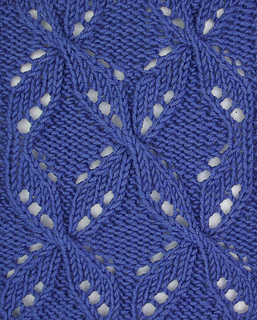 Quatrefoil Knitting Pattern : Ravelry: Quatrefoil Cables and Lace pattern by Pamela Young