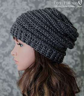 Ravelry Vertical Ribbed Slouchy Hat 429 Pattern By Posh