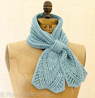 Ascot Scarf Knitting Pattern : Ravelry: Chantilly Lace Ascot pattern by Pam Powers