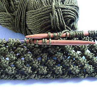 Knitting Pattern Scarf 6mm Needles : Ravelry: Budding Infinity Scarf pattern by Linda Thach