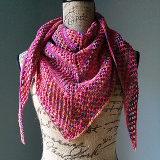 Ravelry Casual Lace Knit Shawl Pattern By Linda Thach